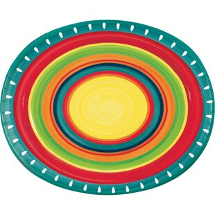 Summer Stoneware Oval Paper Dinner Plate (Set of 24)