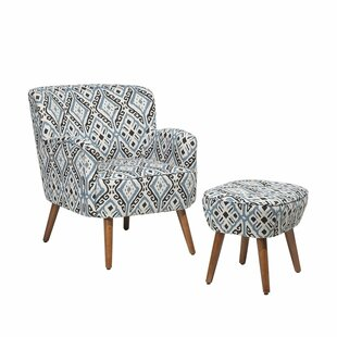 Rupp Armchair and Ottoman by Bungalow Rose