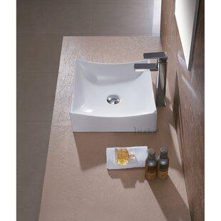 Ceramic Square Vessel Bathroom Sink Luxier