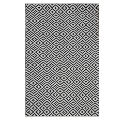 Wrought Studio Criswell Geometric Handwoven Cotton Black White Area Rug Reviews Wayfair