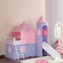Kids Princess Castle Bunk Bed Wayfair