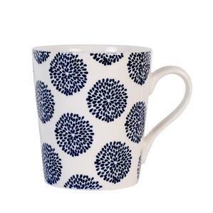 print indigo coffee mug set of 4