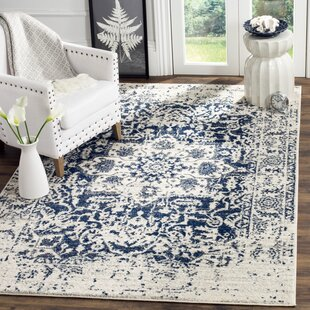 Grieve Cream Navy Area Rug