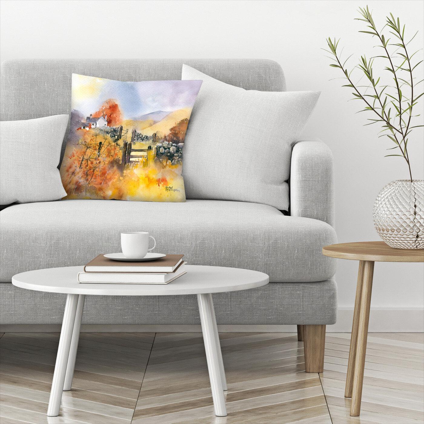 East Urban Home Gold Throw Pillow Wayfair