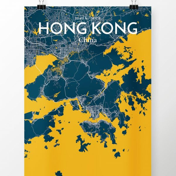 Ourposter hong kong city map graphic art print poster in amuse hong kong city map graphic art print poster in amuse gumiabroncs Choice Image