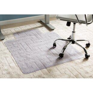 Wayfair Basics Office Low Pile Carpet Straight Chair Mat