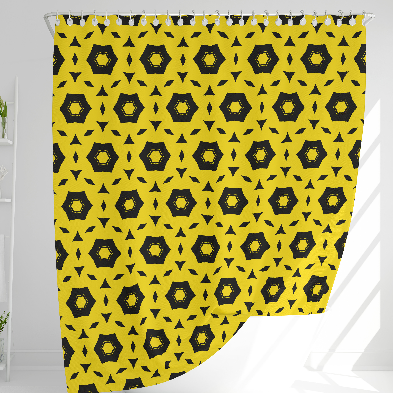 George Oliver Kaelynn Geometric Single Shower Curtain Hooks Wayfair