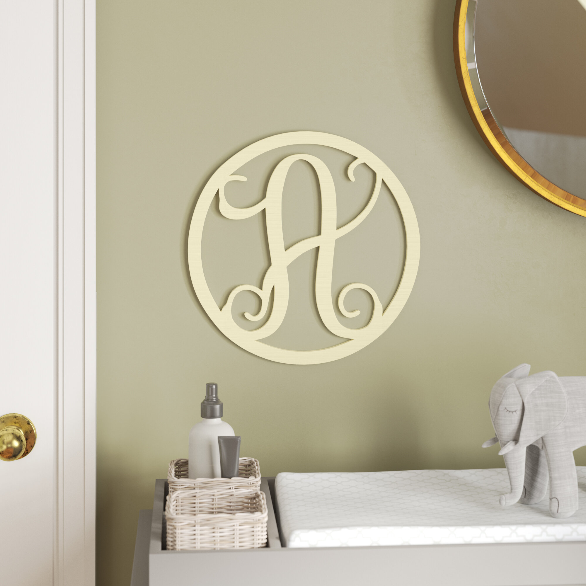Viv + Rae Henline Single Letter Circle Monogram Hanging Initial