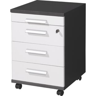 Saenz 4-Drawer Mobile Vertical Filing Cabinet By Mercury Row