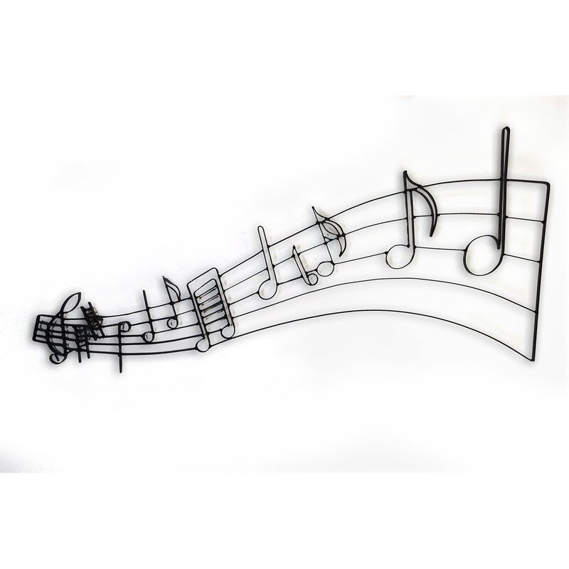 Musical Notes Metal Wall Décor