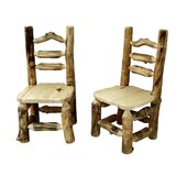 Lavine Solid Wood Ladder Back Side Chair by Millwood Pines