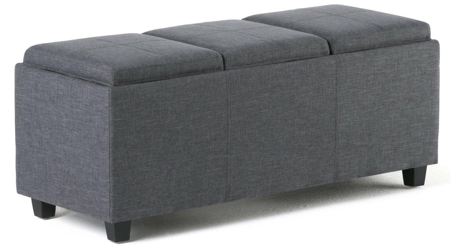 simpli home avalon rectangular storage ottoman  reviews  wayfair - defaultname
