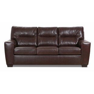 Oleary Leather Sofa Bed