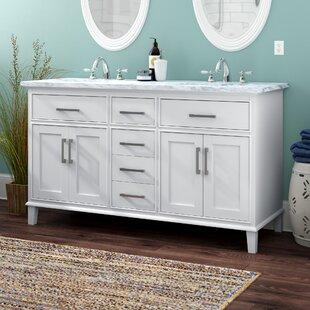 60 bathroom vanity double sink. Save To Idea Board  Beachcrest Home Mundy 60 Double Bathroom Vanity Set Vanities You Ll Love Wayfair