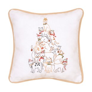 Overly Cat Tree Cotton Throw Pillow