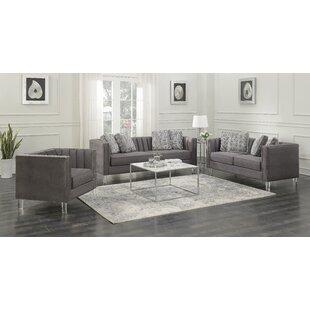 Ivy Bronx Fenn Channeled Configurable Living Room Set