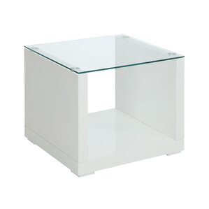 Merrill Glossy-Finish End Table by Wade Logan