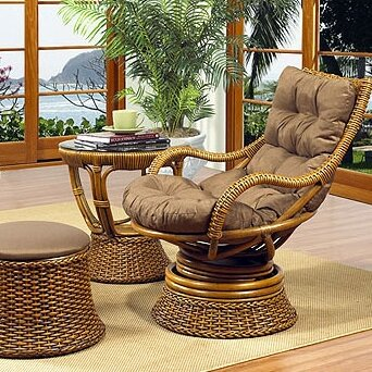 Boca Rattan Biscayne Woven Rattan Lounge Chair | Wayfair