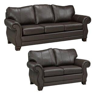 Jettie 2 Piece Leather Living Room Set by Fleur De Lis Living