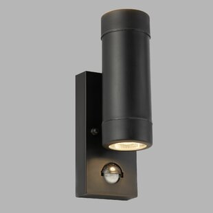 Angelique 2-Light Outdoor Sconce With PIR Sensor By Sol 72 Outdoor