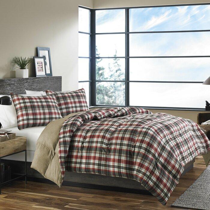 bed set store bauer bath beyond comforter flannel product willow eddie reg plaid
