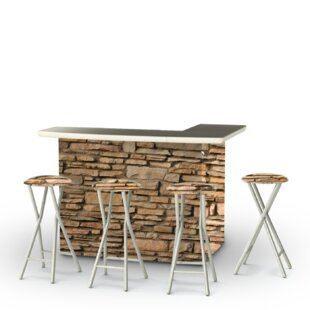 Rock Wall 5-Piece Bar Set
