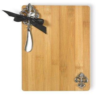 Fleur De Lis Cutting Board and Spreader Set
