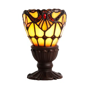 Bloomsbury Market Richburg Light of Remembrance Tiffany Style Stained Glass 6.5