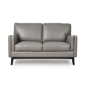 Lanoue Leather Loveseat