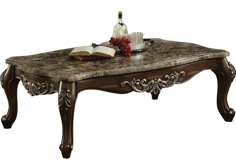 Astoria Grand Haylee Marble Top Wooden Coffee Table Wayfair
