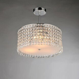 Orren Ellis Micky 4-Light Crystal Chandelier