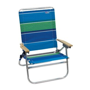 4-Position Easy In-Easy Out Reclining Beach Chair by Rio Brands Today Only Sale