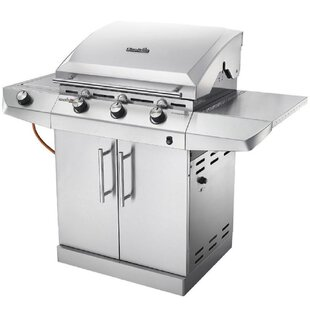Char-Broil Performance Series  T36G5 - 3 Burner Gas Barbecue Grill With TRU-Infrared  Technology And Side-Burner, Stainless Steel Finish By Char-Broil