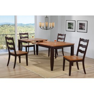 Muldowney Extendable 5 Piece Solid Wood Dining Set August Grove