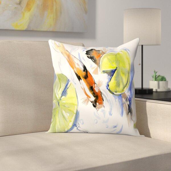 East Urban Home Koi Fish Throw Pillow Wayfair