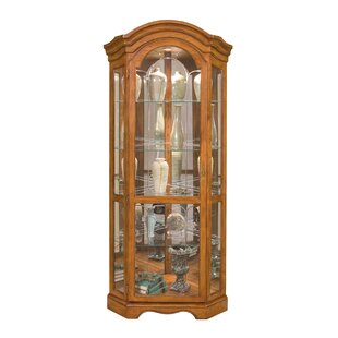 Philip Reinisch Co. Barrington Lighted Corner Curio Cabinet