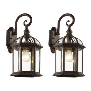Compare Ramirez Outdoor Wall Lantern (Set of 4) By Charlton Home