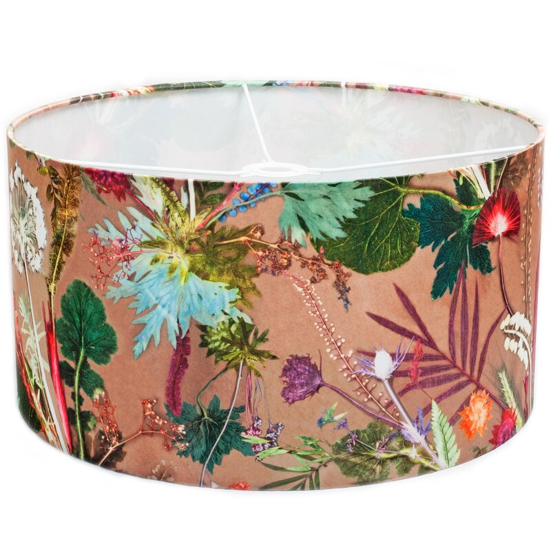 hazelwood home 45 cm lampenschirm tropical aus stoff. Black Bedroom Furniture Sets. Home Design Ideas