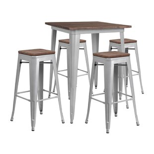 Mulholland Square 5 Piece Pub Table Set