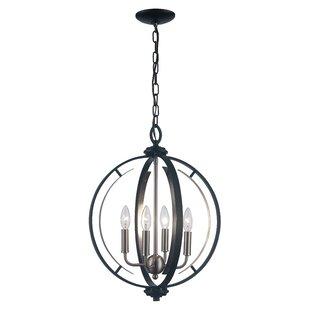 Charlton Home Terrell 4-Light Globe Chandelier
