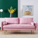 Sarabia Velvet 71 Charles of London Loveseat by Mercer41