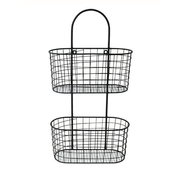 Wall Hanging Storage cheungs metal wall hanging storage basket & reviews | wayfair