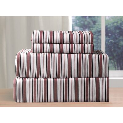 Alcott Hill Raphael 200 Thread Count Sheet Set Colour: Burgundy