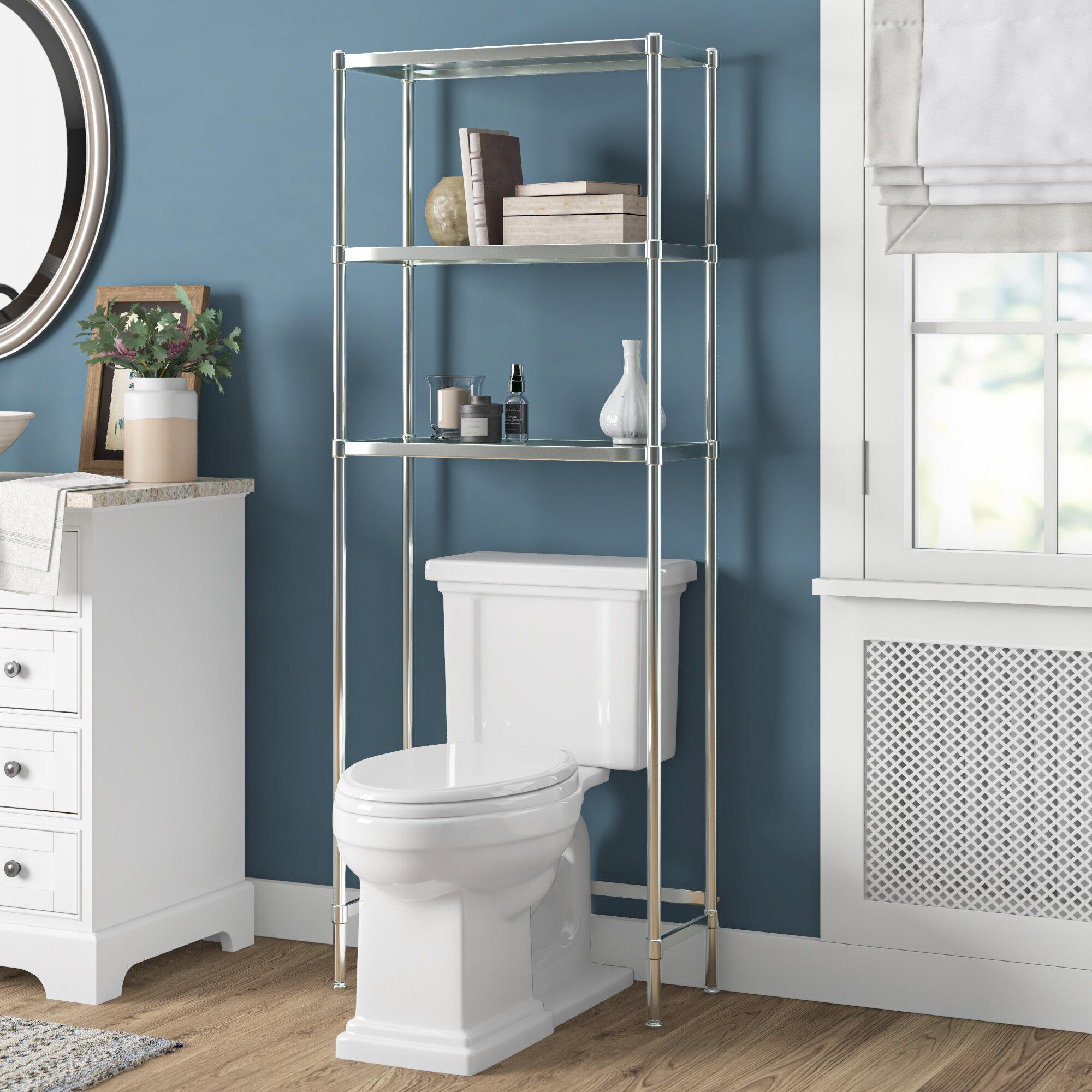 Drew 24 25 W X 63 5 H Over The Toilet Storage Reviews Birch Lane