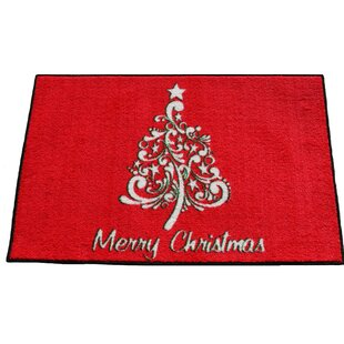 Look for Illman Scroll Christmas Tree Red/White Area Rug By The Holiday Aisle