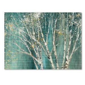 'Blue Birch' Print on Wrapped Canvas