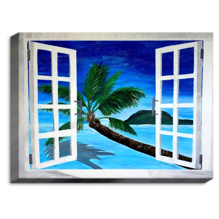 Bayou Breeze Window To Paradise Print On Fabric Wayfair