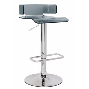 Emre Smart Looking Adjustable Height Swivel Bar Stool by Orren Ellis