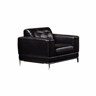 Kubik Leather Armchair by Orren Ellis