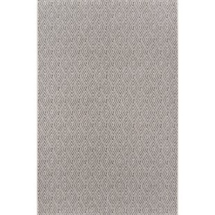 Downeast Wells Charcoal Indoor/Outdoor Area Rug